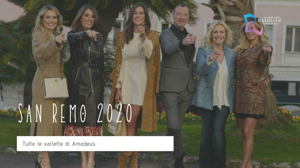 Sanremo 2020: tutte le vallette di Amadeus
